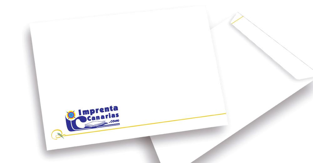 Consigue tus sobres personalizados en Tenerife :: Imprenta Canarias