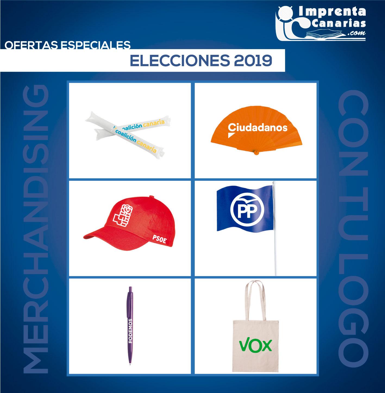 Merchandising Electoral en Canarias