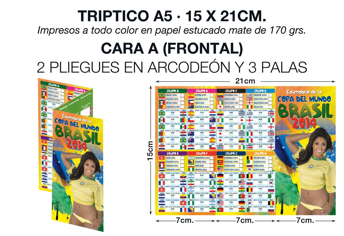 Trípticos en Tenerife, mundial de fútbol 2014