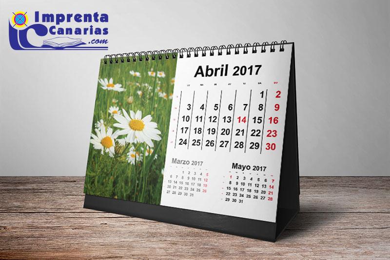 Calendarios de sobremesa en Tenerife