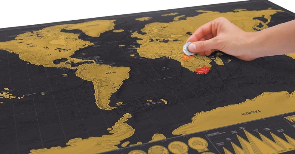 Mapa de rascar :: Imprenta Canarias