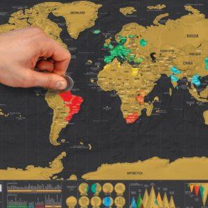 mapas de rascar