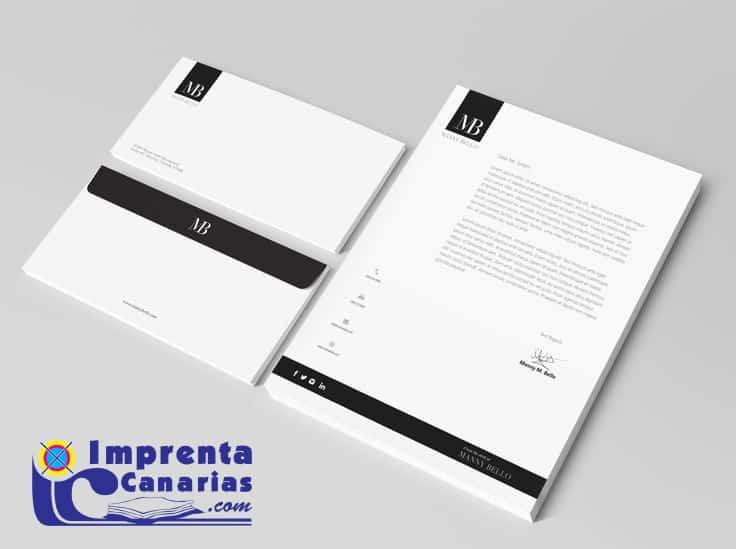 Papel de cartas A4 personalizado :: Imprenta Canarias