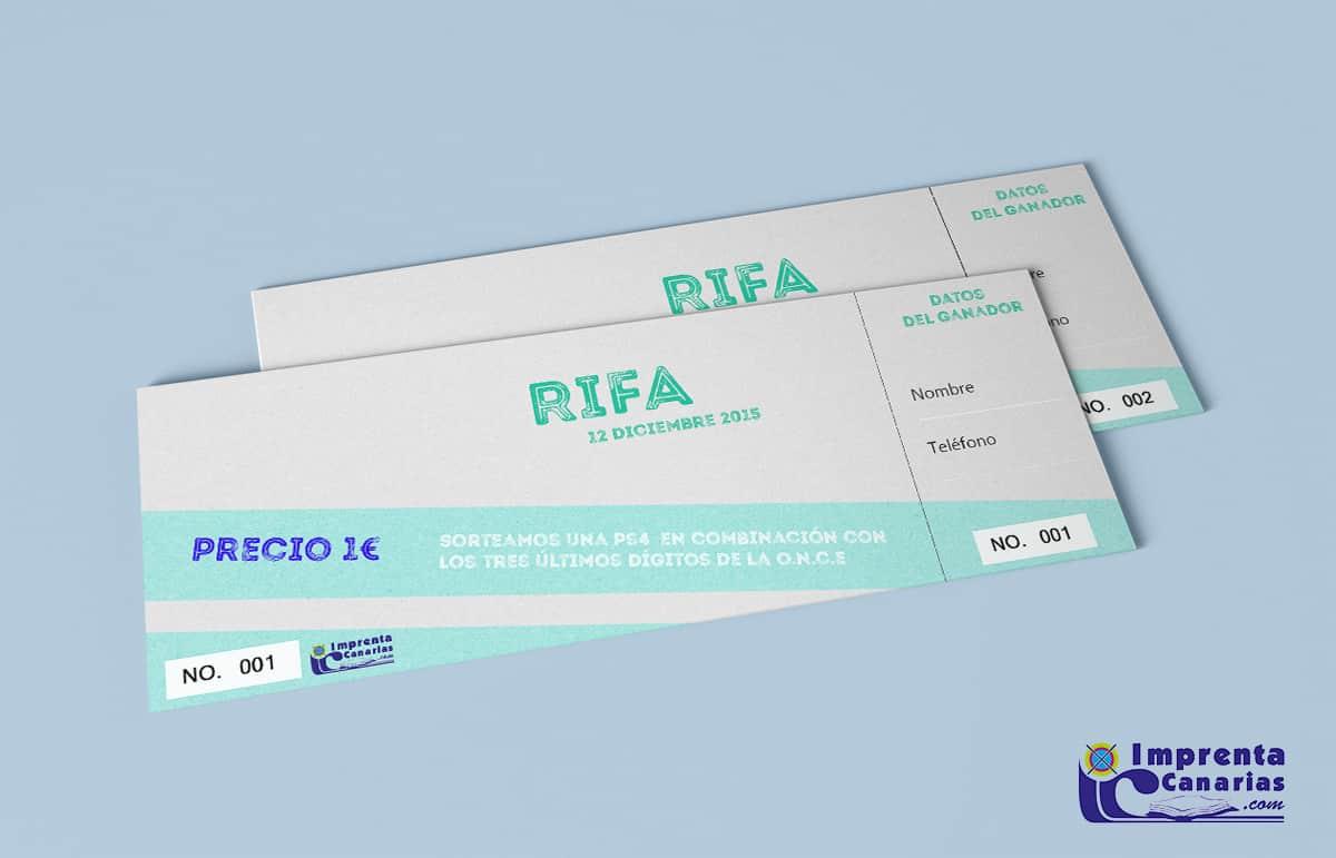 Rifas, Tickets y boletos a medida en Canarias